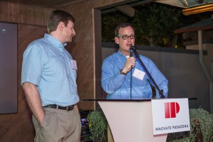 IP Cofounders addressing crowd